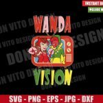 WandaVision TV Sitcom (SVG dxf png) Marvel Logo Scarlet Witch Cut File Cricut Silhouette Vector Clipart Design Wanda Vision svg