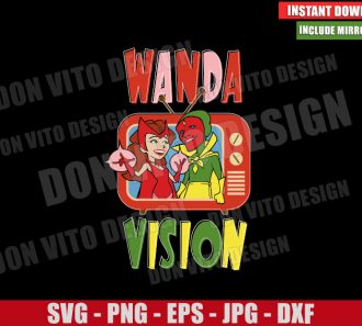 WandaVision TV Sitcom (SVG dxf png) Marvel Logo Scarlet Witch Cut File Cricut Silhouette Vector Clipart - Don Vito Design Store