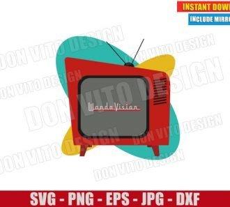 Wandavision Retro Tv Logo (SVG dxf png) Marvel Wanda Vision Cut File Cricut Silhouette Vector Clipart - Don Vito Design Store
