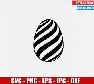 Easter Egg SVG Free Cut File for Cricut Silhouette Freebie Eggs Art Clipart Vector PNG Image Download Free