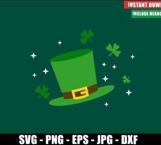 St Patrick Hat SVG Free Cut File for Cricut Silhouette Freebie Irish Leprechaun Clipart Vector PNG Image Download - Don Vito Design Store