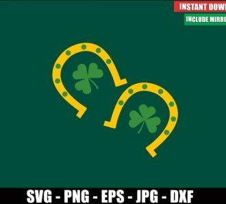 Lucky Horseshoe SVG Free Cut File for Cricut Silhouette Freebie Irish Luck Clipart Vector PNG Image Download - Don Vito Design Store