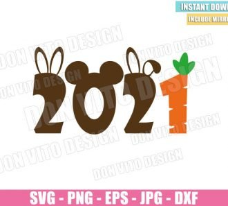2021 Disney Easter Decor (SVG dxf png) Bunny Ears Mickey Carrot Egg Cut File Cricut Silhouette Vector Clipart - Don Vito Design Store