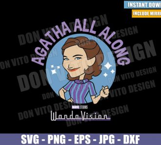 Wandavision Agatha All Along Logo (SVG dxf png) Agatha Harkness Cut File Cricut Silhouette Vector Clipart Circle - Don Vito Design Store
