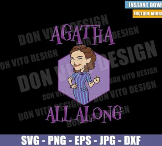 Agatha Purple Portrait (SVG dxf png) Agatha Harkness All Along Logo Cut File Cricut Silhouette Vector Clipart - Don Vito Design Store