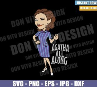 Agatha Harkness (SVG dxf png) Agatha All Along Wanda Vision Cut File Cricut Silhouette Vector Clipart - Don Vito Design Store
