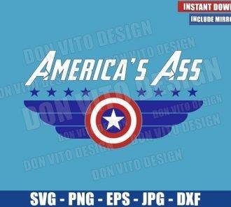 America's Ass Shield Logo (SVG dxf png) Captain America Avengers Endgame Cut File Cricut Silhouette Vector Clipart - Don Vito Design Store