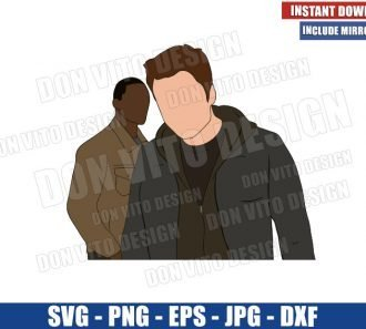 Bucky and Sam (SVG dxf png) Falcon and the Winter Soldier Cut File Cricut Silhouette Vector Clipart - Don Vito Design Store