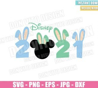 Disney 2021 Bunny Ears (SVG dxf png) Easter Mickey Mouse Head Cut File Cricut Silhouette Vector Clipart - Don Vito Design Store