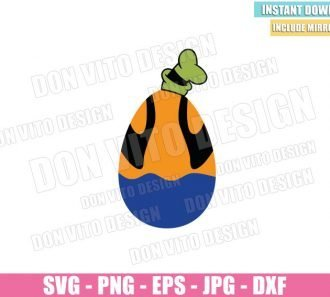 Goofy Easter Egg (SVG dxf png) Disney Easter Goofy Hat T-Shirt Cut File Cricut Silhouette Vector Clipart - Don Vito Design Store