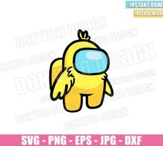 Easter Chick Among Us (SVG dxf png) Yellow Impostor Baby Chicken Cut File Cricut Silhouette Vector Clipart - Don Vito Design Store