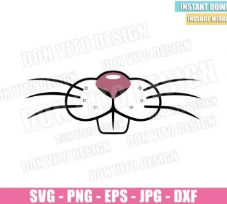 Bunny Mouth Teeth (SVG dxf png) Cute Easter Rabbit Face Mask Cut File Cricut Silhouette Vector Clipart - Don Vito Design Store