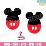 Egg Mickey Mouse Ears (SVG dxf png) Disney Easter Egg Cracked Cut File Cricut Silhouette Vector Clipart 2 Designs Easter svg
