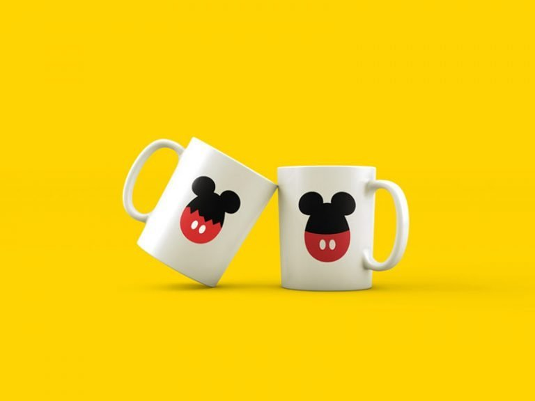 Mug Design Example - Egg Mickey Mouse Ears (SVG dxf png) Disney Easter Egg Cracked Cut File Cricut Silhouette Vector Clipart