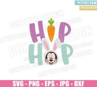 Hip Hop Mickey Bunny (SVG dxf png) Disney Mouse Rabbit Head Ears Cut File Cricut Silhouette Vector Clipart - Don Vito Design Store