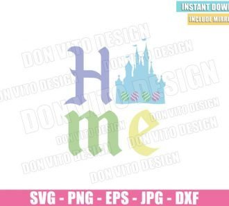 Home Easter Disney Castle (SVG dxf png) Happy Easter Eggs Disneyland Kids Cut File Cricut Silhouette Vector Clipart - Don Vito Design Store