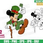 Leprechaun Mickey Mouse (SVG dxf png) Disney Irish Suit Jumping Cut File Cricut Silhouette Vector Clipart 2 Designs St Patrick Day svg