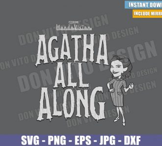 Old Logo Agatha All Along (SVG dxf png) Agatha Harkness Wanda Vision Cut File Cricut Silhouette Vector Clipart - Don Vito Design Store