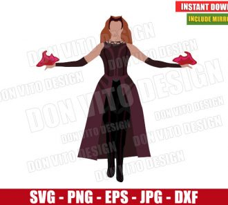 Scarlet Witch New Costume (SVG dxf png) Wanda Maximoff MCU Marvel Cut File Cricut Silhouette Vector Clipart - Don Vito Design Store