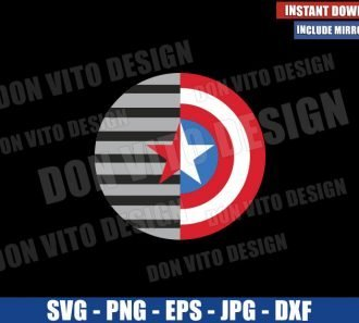 Shield Falcon and Winter Soldier (SVG dxf png) Captain America Logo Cut File Cricut Silhouette Vector Clipart - Don Vito Design Store