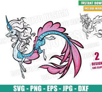 Sisu The Dragon (SVG dxf png) Raya and the Last Dragon Outline Cut File Cricut Silhouette Vector Clipart - Don Vito Design Store