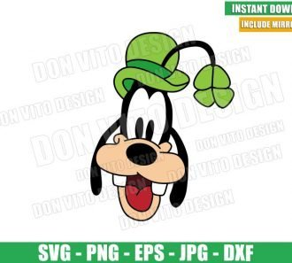 St Patrick Goofy Hat (SVG dxf png) Disney Green Irish Clover Cut File Cricut Silhouette Vector Clipart - Don Vito Design Store