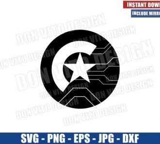 Falcon and Winter Soldier Shields (SVG dxf png) Stucky Shield Cut File Cricut Silhouette Vector Clipart - Don Vito Design Store