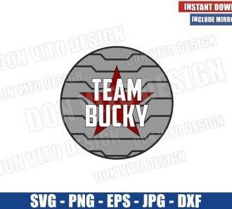 Team Bucky Logo (SVG dxf png) The Winter Soldier Bucky Barnes Cut File Cricut Silhouette Vector Clipart - Don Vito Design Store
