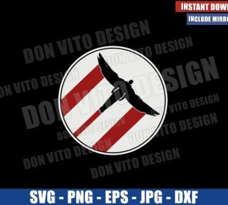 The Falcon Flying (SVG dxf png) The Falcon and The Winter Soldier Cut File Cricut Silhouette Vector Clipart - Don Vito Design Store