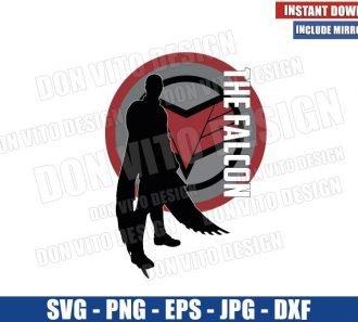 The Falcon Silhouette Logo (SVG dxf png) Falcon and The Winter Soldier Cut File Cricut Silhouette Vector Clipart - Don Vito Design Store