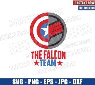 The Falcon Team (SVG dxf png) Logo Captain America Shield Cut File Cricut Silhouette Vector Clipart - Don Vito Design Store