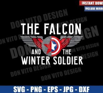 The Falcon and The Winter Soldier (SVG dxf png) Shields with Wings Cut File Cricut Silhouette Vector Clipart - Don Vito Design Store