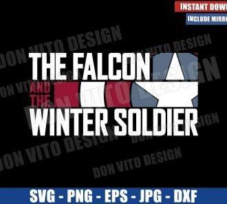 The Falcon The Winter Soldier Logo (SVG dxf png) Captain America Shield Cut File Cricut Silhouette Vector Clipart - Don Vito Design Store
