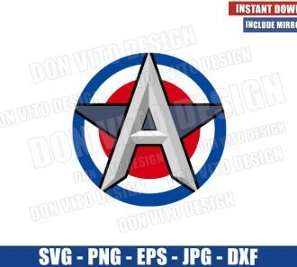 US Agent Logo (SVG dxf png) Falcon and The Winter Soldier Cut File Cricut Silhouette Vector Clipart - Don Vito Design Store