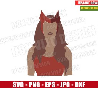 Wanda Scarlet Witch (SVG dxf png) Marvel Avengers Super Hero Cut File Cricut Silhouette Vector Clipart - Don Vito Design Store