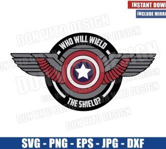 Who will Wield The Shield (SVG dxf png) Falcon and the Winter Soldier Cut File Cricut Silhouette Vector Clipart - Don Vito Design Store