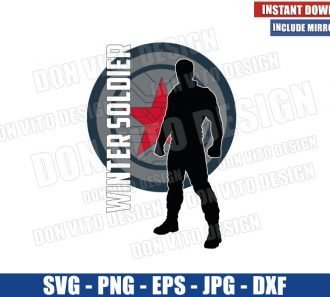 Winter Soldier Silhouette Logo (SVG dxf png) Falcon and Winter Soldier Cut File Cricut Silhouette Vector Clipart - Don Vito Design Store