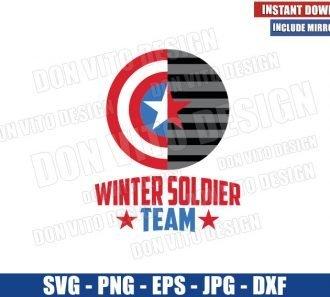 Winter Soldier Team (SVG dxf png) Captain America Shield Logo Cut File Cricut Silhouette Vector Clipart - Don Vito Design Store