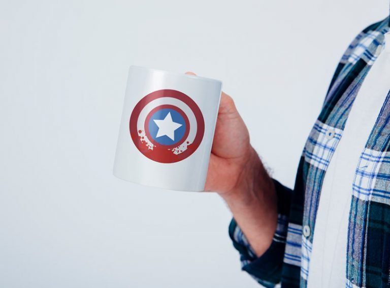 Mug Design Example Blood on Captain America Shield (SVG dxf png) The Falcon and Winter Soldier Cut File Cricut Silhouette Vector Clipart