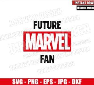 Future Marvel Fan (SVG dxf png) Baby Shower Gift Superhero Marvel Logo Cricut Silhouette Vector Clipart - Don Vito Design Store