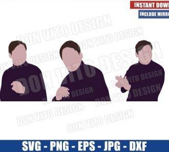 Baron Zemo Dancing (SVG dxf png) The Falcon and Winter Soldier Cut File Cricut Silhouette Vector Clipart - Don Vito Design Store