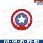 Blood on Captain America Shield (SVG dxf png) The Falcon and Winter Soldier Cut File Cricut Silhouette Vector Clipart Design Marvel svg