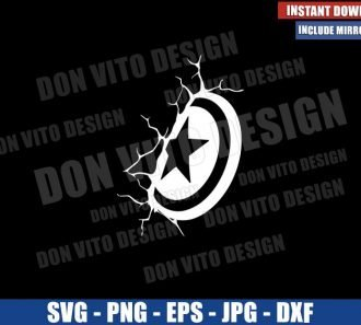 Captain America Shield Cracked Wall (SVG dxf png) Marvel Avengers Cricut Silhouette Vector Clipart - Don Vito Design Store
