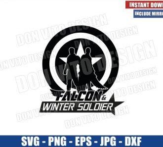 Falcon Winter Soldier Shield Logo (SVG dxf png) Captain America Friends Cricut Silhouette Vector Clipart - Don Vito Design Store