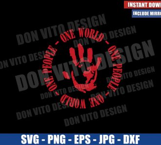 One World One People Logo (SVG dxf png) Falcon and Winter Soldier Cut File Cricut Silhouette Vector Clipart - Don Vito Design Store