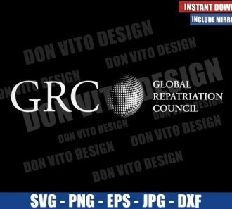 GRC Global Repatriation Council (SVG dxf png) Falcon and Winter Soldier Logo Cut File Cricut Silhouette Vector Clipart - Don Vito Design Store