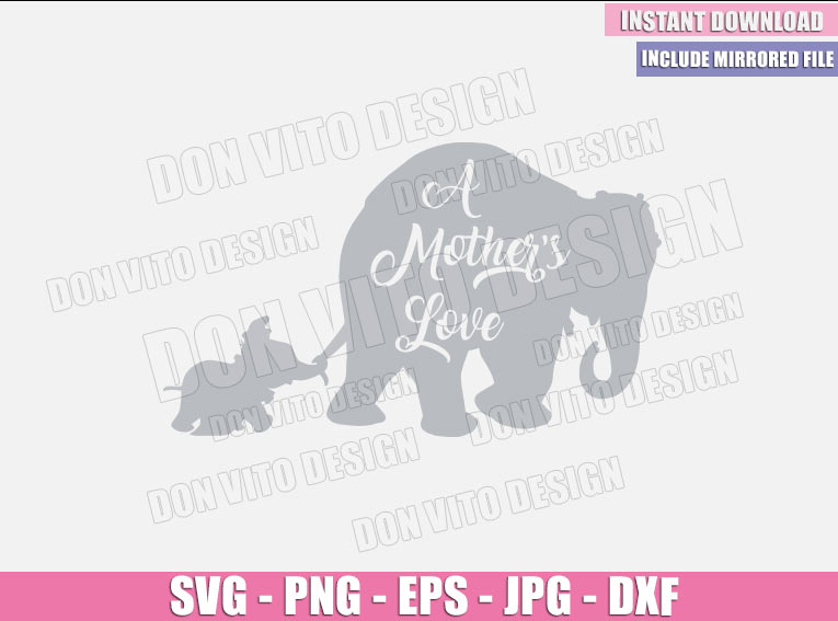 A Mother's Love Dumbo (SVG dxf png) Disney Movie Dumbo and his Mom Cut File Cricut Silhouette Vector Clipart - Don Vito Design Store