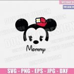 Mommy Baby Minnie Mouse (SVG dxf png) Disney Cuties Head Mom Cut File Cricut Silhouette Vector Clipart Design Mother Day svg