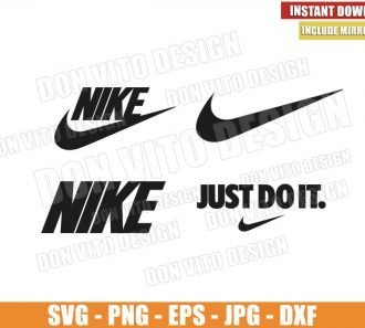 Nike Logo Bundle (SVG dxf png) Just do it Swoosh Cut File Cricut Silhouette Vector Clipart - Don Vito Design Store