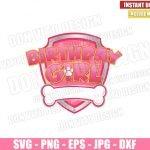 Patrol Birthday Girl (SVG dxf png) Paw Patrol Badge Pink Logo Cut File Cricut Silhouette Vector Clipart T-Shirt Design Dog Paw Patrol svg